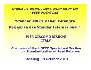 Standar UNECE dalam Kerangka Perjanjian dan Standar Internasional