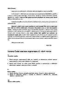 Stanovy České asociace ergoterapeutů- návrh revize