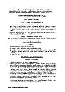 Stanovy Lidového bytového družstva Praha 8, schválené shromážděním delegátů dne Část I. Základní ustanovení