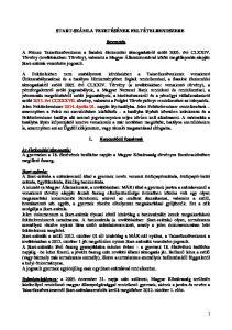 START-SZÁMLA VEZETÉSÉNEK FELTÉTELRENDSZERE. Bevezetés