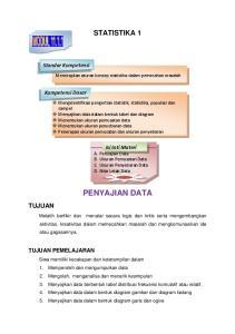 STATISTIKA 1. Menerapkan aturan konsep statistika dalam pemecahan masalah