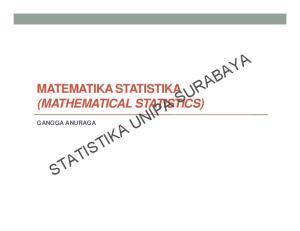 STATISTIKA UNIPA SURABAYA