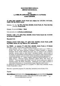 STATUTÁRNÍ MĚSTO OSTRAVA MĚSTSKÝ OBVOD PORUBA. ZÁPIS z průběhu 39. schůze Rady městského obvodu Poruba ze dne