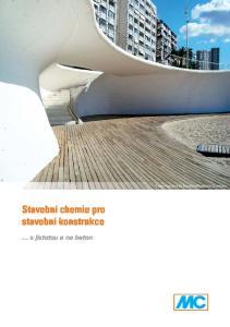 Stavební chemie pro stavební konstrukce s jistotou a na beton