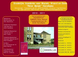 Stedelijke Academie voor Muziek, Woord en Dans Peter Benoit Harelbeke