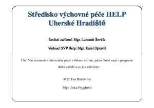 Středisko výchovné péče HELP Uherské Hradiště