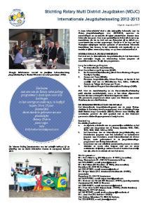 Stichting Rotary Multi District Jeugdzaken (MDJC) Internationale Jeugduitwisseling