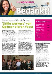 Stille werkers van Opmeer vieren feest