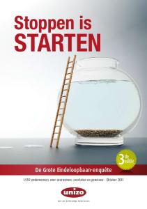 Stoppen is STARTEN ondernemers over overnemen, overlaten en pensioen Oktober 2011
