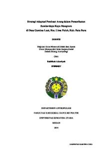 Strategi Adaptasi Pembuat Arang dalam Pemanfaatan Sumberdaya Kayu Mangrove di Desa Gambus Laut, Kec. Lima Puluh, Kab. Batu Bara