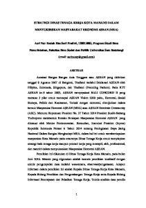 STRATEGI DINAS TENAGA KERJA KOTA MANADO DALAM MENYUKSESKAN MASYARAKAT EKONOMI ASEAN (MEA)