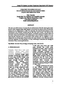 STRATEGI TNI ANGKATAN LAUT DALAM PENGAMANAN BATAS MARITIM NKRI: KAJIAN HISTORIS-STRATEGIS