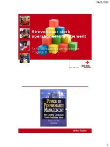 Streven naar sterk operationeel management