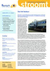 stroomt Van het bestuur Colofon Nieuwsbrief van Stichting Fluvium In dit nummer o.a