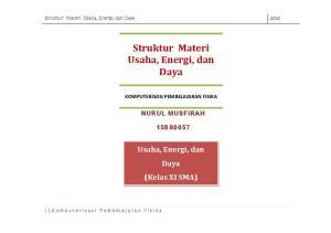 Struktur Materi Usaha, Energi, dan Daya
