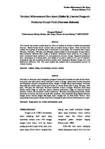 Struktur Mikroanatomi Ren Ayam (Gallus Sp.) karena Pengaruh. Pemberian Kunyit Putih (Curcuma Zedoaria)