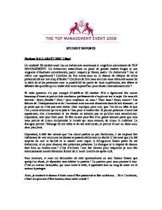 STUDENT REPORTS. Floriane BALLARATI (HEC Liège)