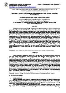 STUDI BEBERAPA ASPEK BIOLOGI IKAN BAWAL HITAM (Parastromateus niger) YANG TERTANGKAP PAYANG DI KABUPATEN KENDAL