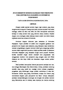 STUDI DESKRIPTIF MENGENAI GAMBARAN TIME PERSPECTIVE PARA CHIPPERS PADA MAHASISWA DI UNIVERSITAS PADJADJARAN