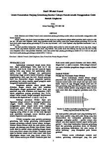 Studi Difraksi Fresnel Untuk Menentukan Panjang Gelombang Sumber Cahaya Monokromatis Menggunakan Celah Bentuk Lingkaran