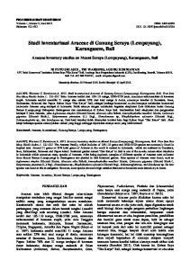Studi inventarisasi Araceae di Gunung Seraya (Lempuyang), Karangasem, Bali