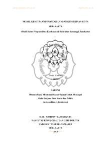 (Studi Kasus Program Bina Kesehatan di Kelurahan Semanggi, Surakarta)