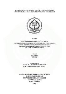 STUDI KOMPARATIF HUKUM BARANG TEMUAN (LUQAT}AH) ANTARA MAZHAB HANAFIYYAH DAN MAZHAB MALIKIYYAH