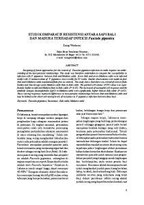 STUDI KOMPARATIF RESISTENSI ANTARA SAPI BALI DAN MADURA TERHADAP INFEKSI Fasciola gigantica