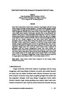 Studi Model Variasi Harian Komponen H Berdasarkan Pola Hari Tenang