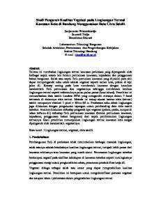 Studi Pengaruh Kualitas Vegetasi pada Lingkungan Termal Kawasan Kota di Bandung Menggunakan Data Citra Satelit