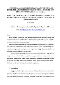 STUDI PENGOLAHAN AIR LIMBAH DOMESTIK DENGAN BIOFILTER AERASI MENGGUNAKAN MEDIA BIOBALL DAN ENCENG GONDOK (Eichornia crassipes)