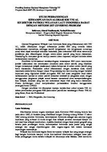 STUDI PERBANDINGAN KEMAMPUAN DAN ALOKASI KRI TNI AL KE SEKTOR PATROLI WILAYAH LAUT INDONESIA BARAT DENGAN METODE SET COVERING PROBLEM