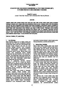 STUDI POTENSI LIKUIFAKSI BERDASARKAN UJI PENETRASI STANDAR (SPT) DI PESISIR PANTAI BELANG MINAHASA TENGGARA