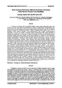 Studi Tentang Perbedaan Metode Budidaya Terhadap Pertumbuhan Rumput Laut Caulerpa