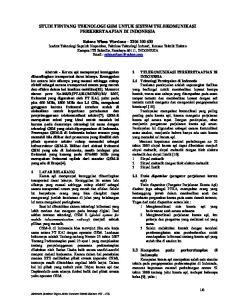 STUDI TENTANG TEKNOLOGI GSM UNTUK SISTEM TELEKOMUNIKASI PERKERETAAPIAN DI INDONESIA
