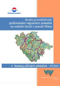 Studie proveditelnosti zprůchodnění migračních překážek na vodních tocích v povodí Vltavy