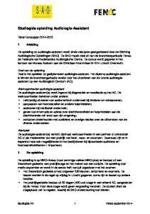 Studiegids opleiding Audiologie-Assistent