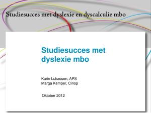 Studiesucces met dyslexie mbo