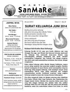 SURAT KELUARGA JUNI 2014