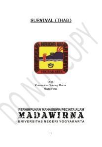 SURVIVAL (THAB) Oleh Komunitas Gunung Hutan Madawirna