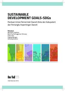 SUSTAINABLE DEVELOPMENT GOALS-SDGs