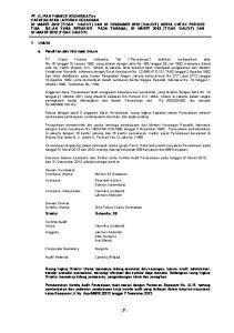 Susunan Dewan Komisaris dan Direksi serta Komite Audit Perusahaan pada tanggal 31 Maret 2013 dan 31 Desember 2012 adalah sebagai berikut: