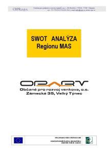 SWOT ANALÝZA Regionu MAS