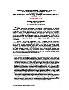 SYAFRUDDIN KALO. Program Studi Hukum Pidana Fakultas Hukum Universitas Sumatera Utara