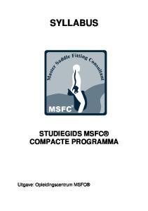 SYLLABUS STUDIEGIDS MSFC COMPACTE PROGRAMMA