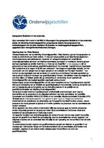 Symposium Mediation in het onderwijs