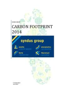 SYNDUS GROUP CARBON FOOTPRINT 2014