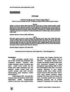 SYPHILIS [ARTIKEL REVIEW] Devi Putri Amalia Suryani, 1 Hendra Tarigan Sibero 2