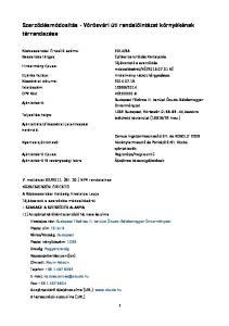 Szerződésmódosítás - Vörösvári úti rendelőintézet környékének térrendezése