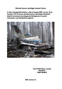 Szlovák katonai repülőgép balesete Hejcén